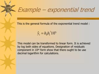Example – exponential trend