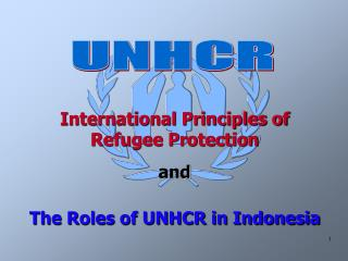 International Principles of  Refugee Protection  and The Roles of UNHCR in Indonesia