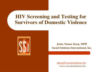 HIV Screening and Testing for Survivors of Domestic Violence