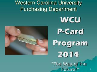 Western Carolina University Purchasing Department