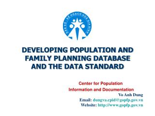 DEVELOPING POPULATION AND  FAMILY PLANNING DATABASE AND THE DATA STANDARD