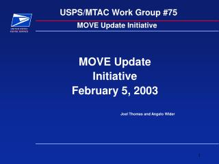 USPS/MTAC Work Group #75
