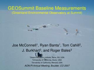 GEOSummit Baseline Measurements (Greenland Environmental Observatory at Summit)