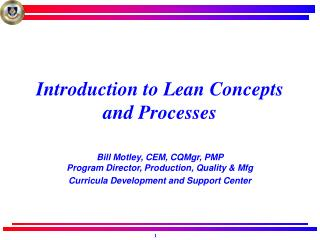 Introduction to Lean Concepts and Processes