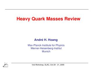 Heavy Quark Masses Review