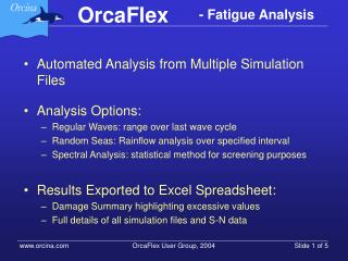 Automated Analysis from Multiple Simulation Files