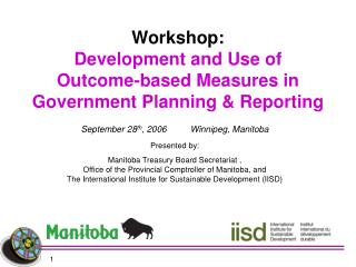 Workshop: Development and Use of Outcome-based Measures in Government Planning  Reporting