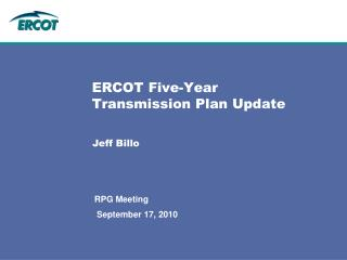 ERCOT Five-Year Transmission Plan Update