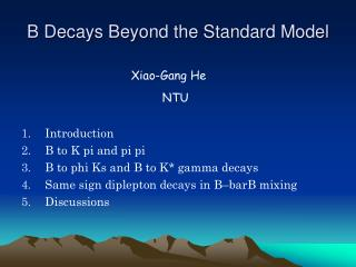 B Decays Beyond the Standard Model
