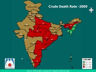 Crude Death Rate -2009