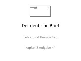 Der deutsche Brief