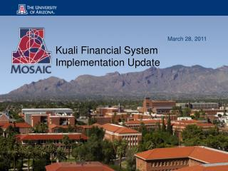 Kuali Financial System Implementation Update