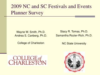2009 NC and SC Festivals and Events Planner Survey