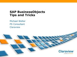 SAP BusinessObjects Tips and Tricks