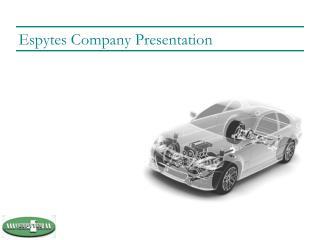 Espytes Company Presentation