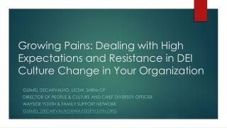 Organizational Culture Change Survey Re-Measurement