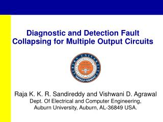 Diagnostic and Detection Fault Collapsing for Multiple Output Circuits