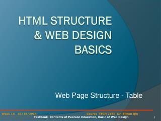 HTML Structure & Web Design Basics