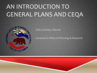 An Introduction to General Plans and CEQA