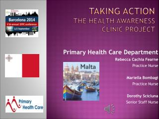 Taking action  the Health  Awareness  Clinic project