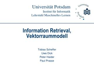 Information Retrieval, Vektorraummodell