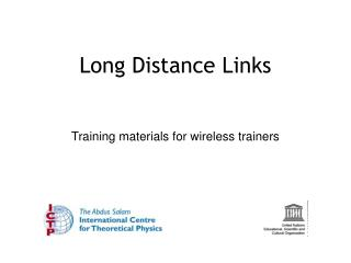 Long Distance Links