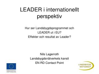 LEADER i internationellt perspektiv