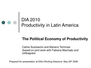 DIA 2010 Productivity in Latin America