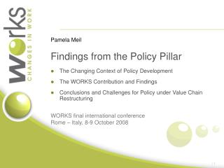 Findings from the Policy Pillar