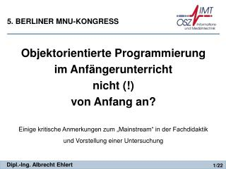 5. BERLINER MNU-KONGRESS