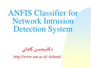 ANFIS Classifier for Network Intrusion Detection System