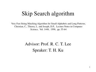 Skip Search algorithm