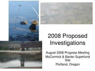 2008 Proposed Investigations
