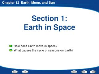 Section 1: Earth in Space
