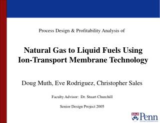 Natural Gas to Liquid Fuels Using  Ion-Transport Membrane Technology