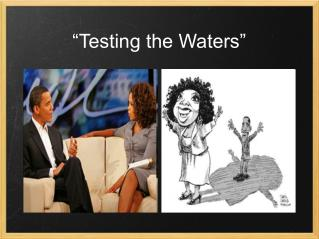 """Testing the Waters"""
