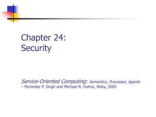 Chapter 24: Security