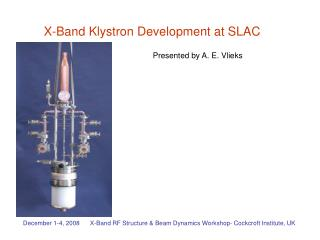 X-Band Klystron Development at SLAC