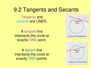 9.2 Tangents and Secants