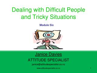 Dealing with Difficult People and Tricky Situations