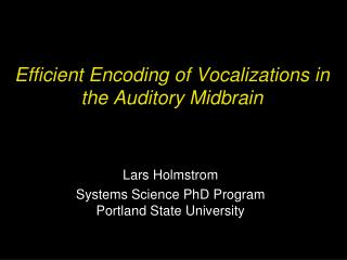Efficient Encoding of Vocalizations in the Auditory Midbrain