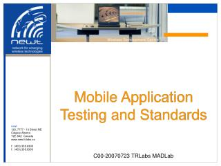 Mobile Application Testing and Standards