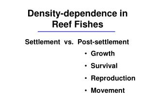 Settlement  vs.  Post-settlement