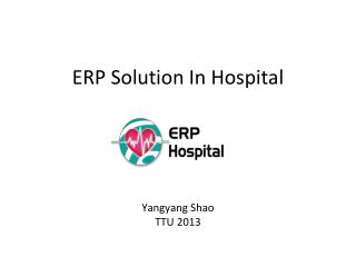 ERP  Solution  In Hospital