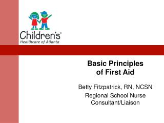 Basic Principles  of First Aid