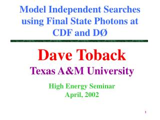 Model Independent Searches using Final State Photons at CDF and DØ