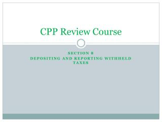 CPP Review Course
