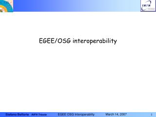EGEE/OSG interoperability