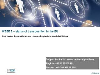 WEEE 2 – status of transposition in the EU
