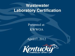 Wastewater  Laboratory Certification